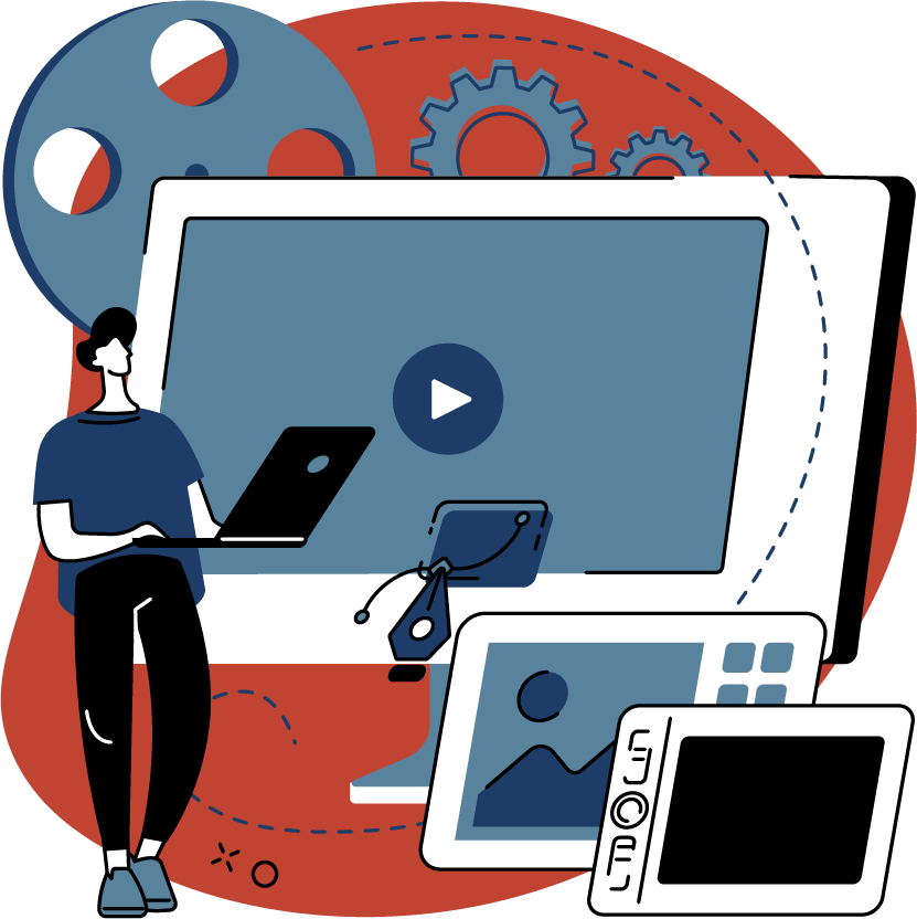 Video and motion graphics production for multiple device sizes.